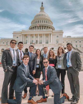ASDA Members posing in front of Washington DC Capitol Building